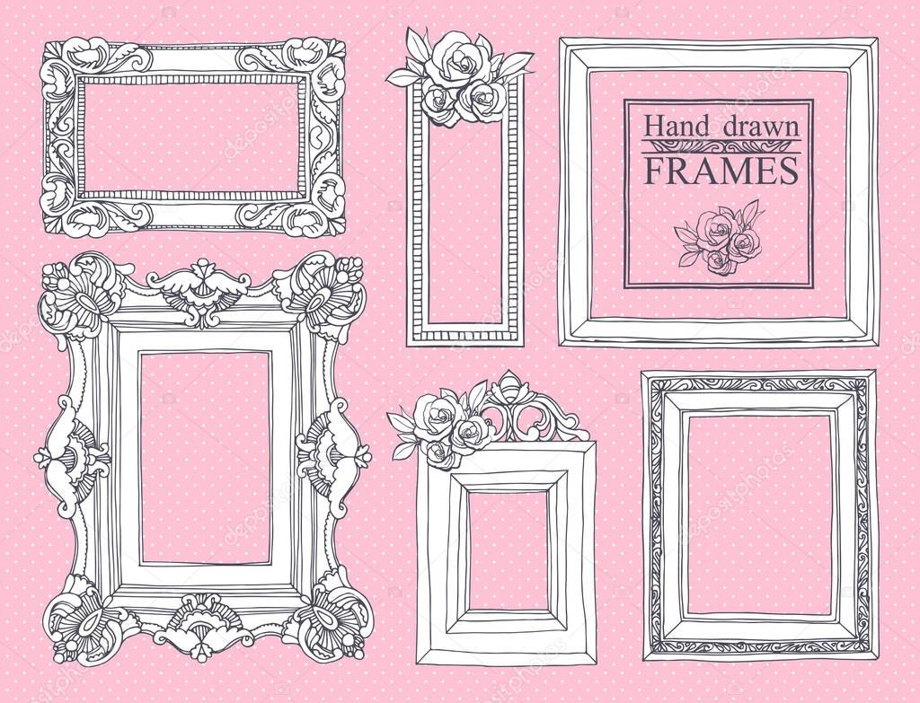 Set of vintage frames.