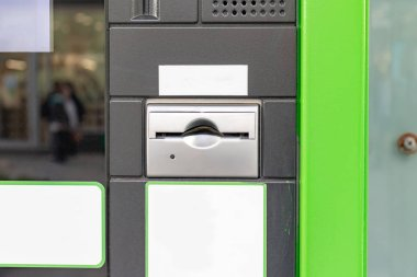 Parking payment terminal, device on a city street for digital pay