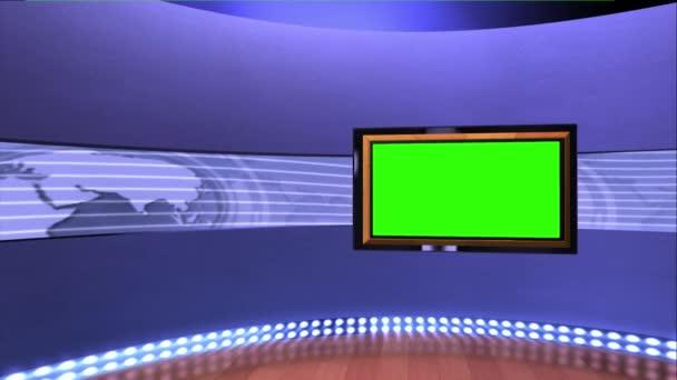 Virtual News Studio Set Green Screen
