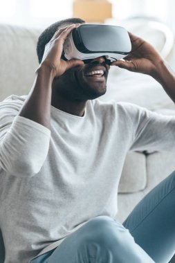 African man in VR headset