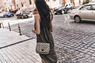 stylish beautiful woman in dress