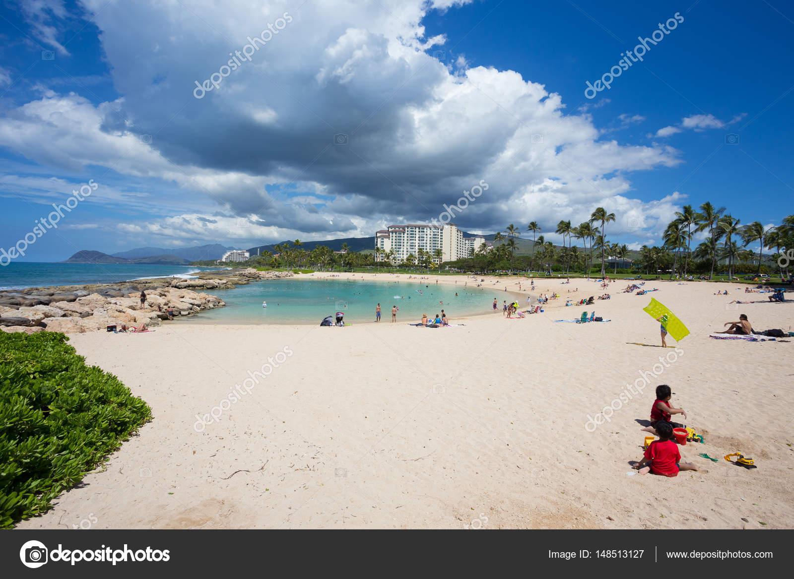 Ko\'olina umělé laguny v Oahu Hawaii - Stock Editorial Foto ...