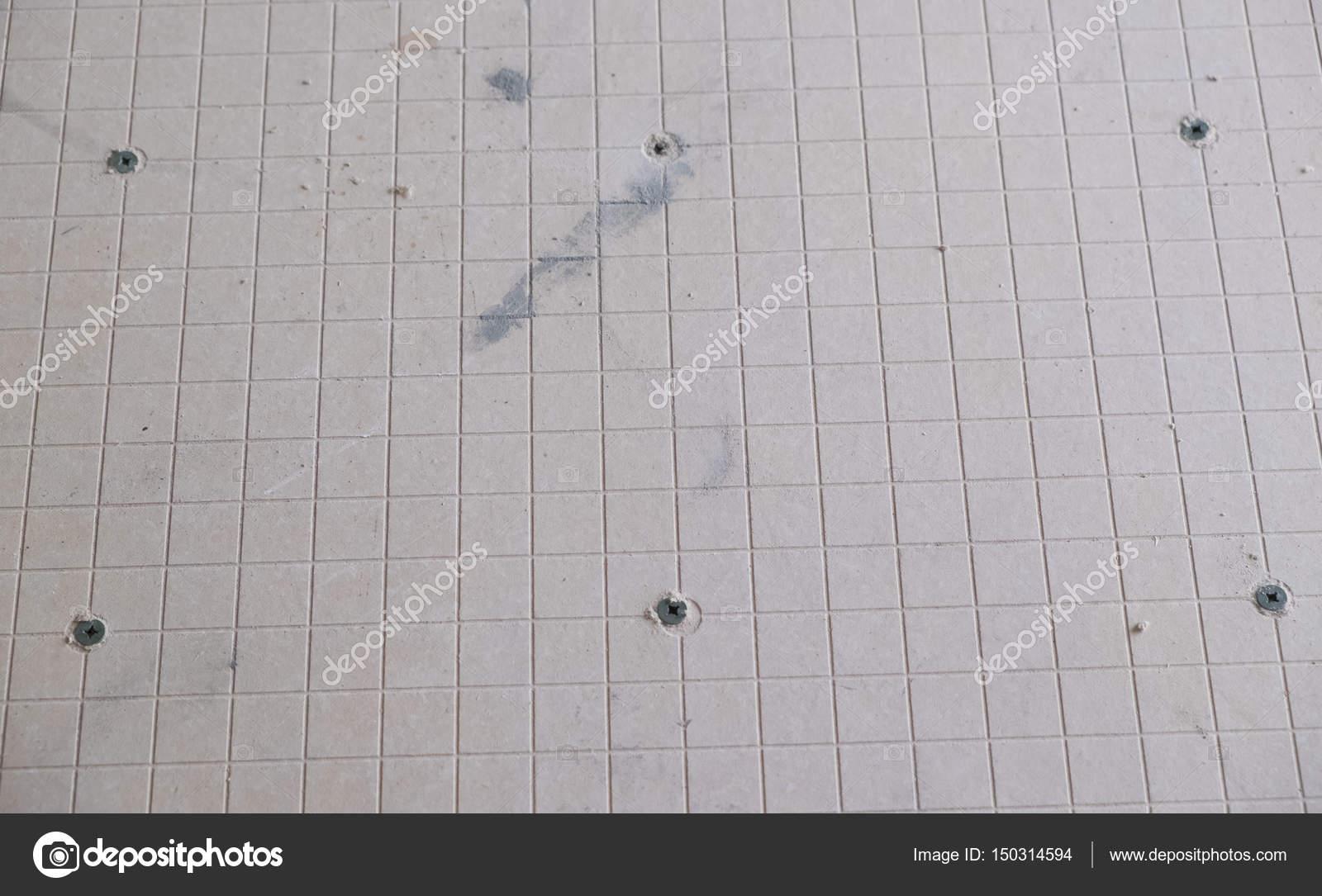 Bordo del cemento backer per piastrelle progetto u foto stock