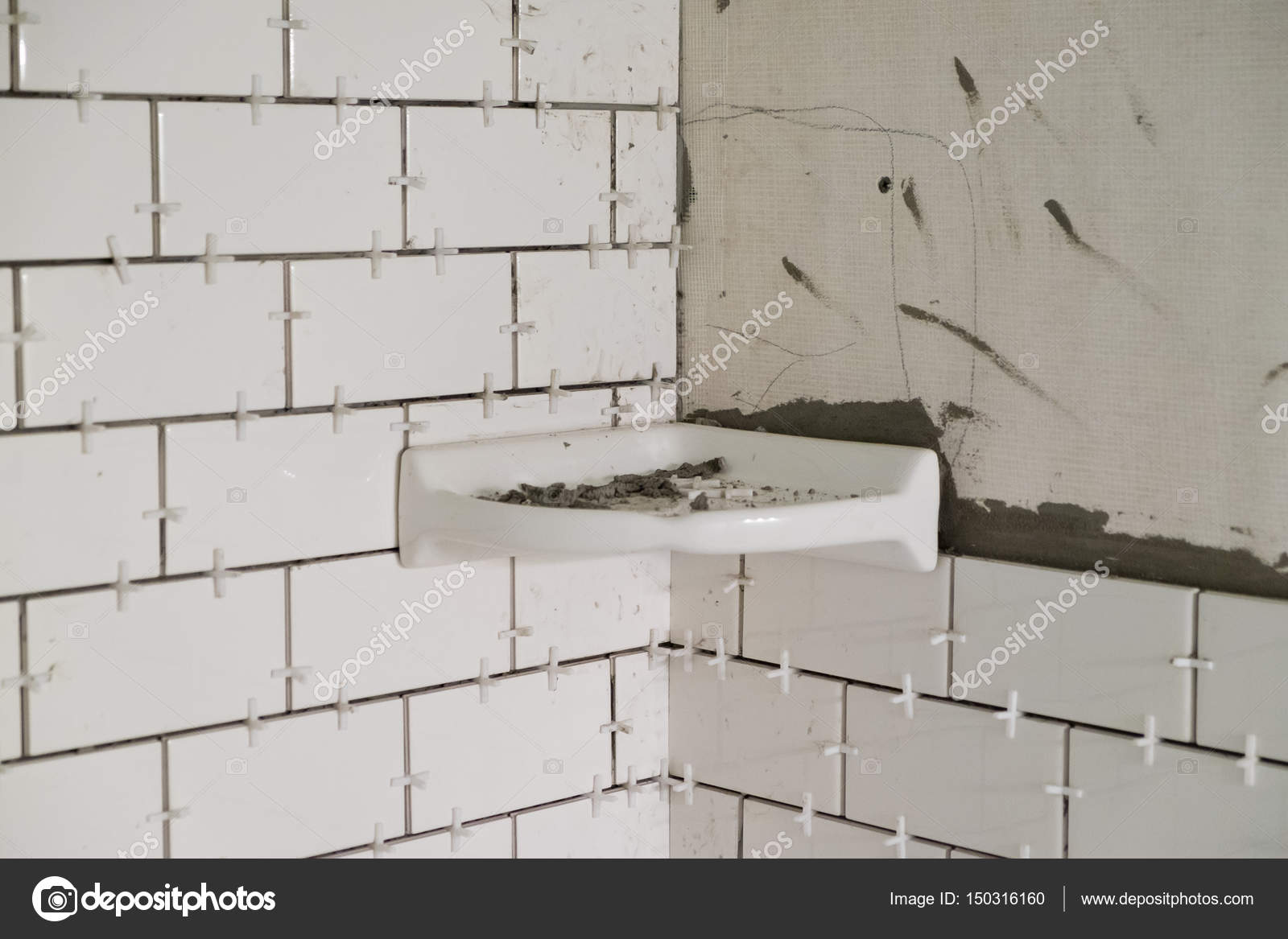 Tegels Metro Keuken : Witte metro tegels tub surround u stockfoto joshuarainey