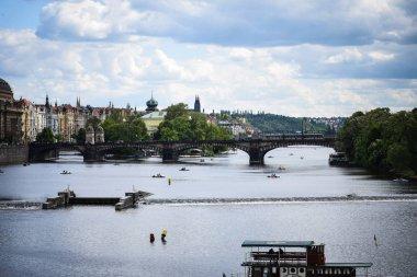 close up view of the Vltava river