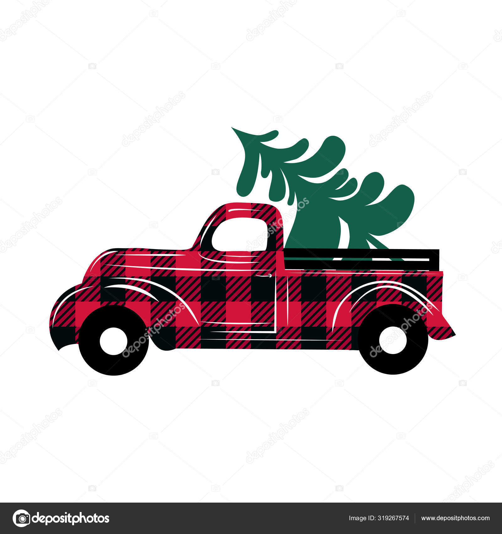 Red Checkered Truck Delivers Christmas Tree Christmas Truck Illustration Cartoon Stock Vector C Chempina 319267574 Christmas stickers, christmas truck stickers, print n cut, christmas trees stickers, christmas farm stickers, red truck, christmas truck red checkered truck delivers christmas tree christmas truck illustration cartoon stock vector c chempina 319267574