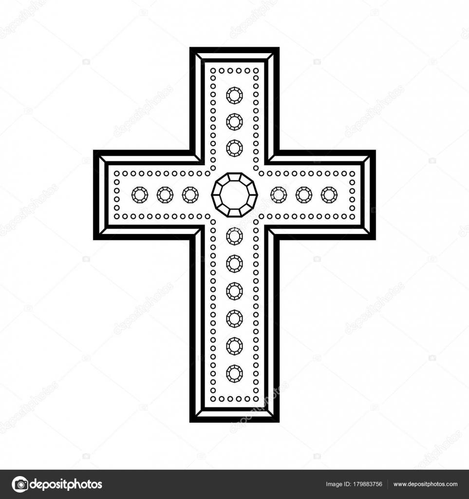 Christian decorative cross illustration black cross symbol christian decorative cross illustration black cross symbol christianity white background stock vector biocorpaavc Gallery