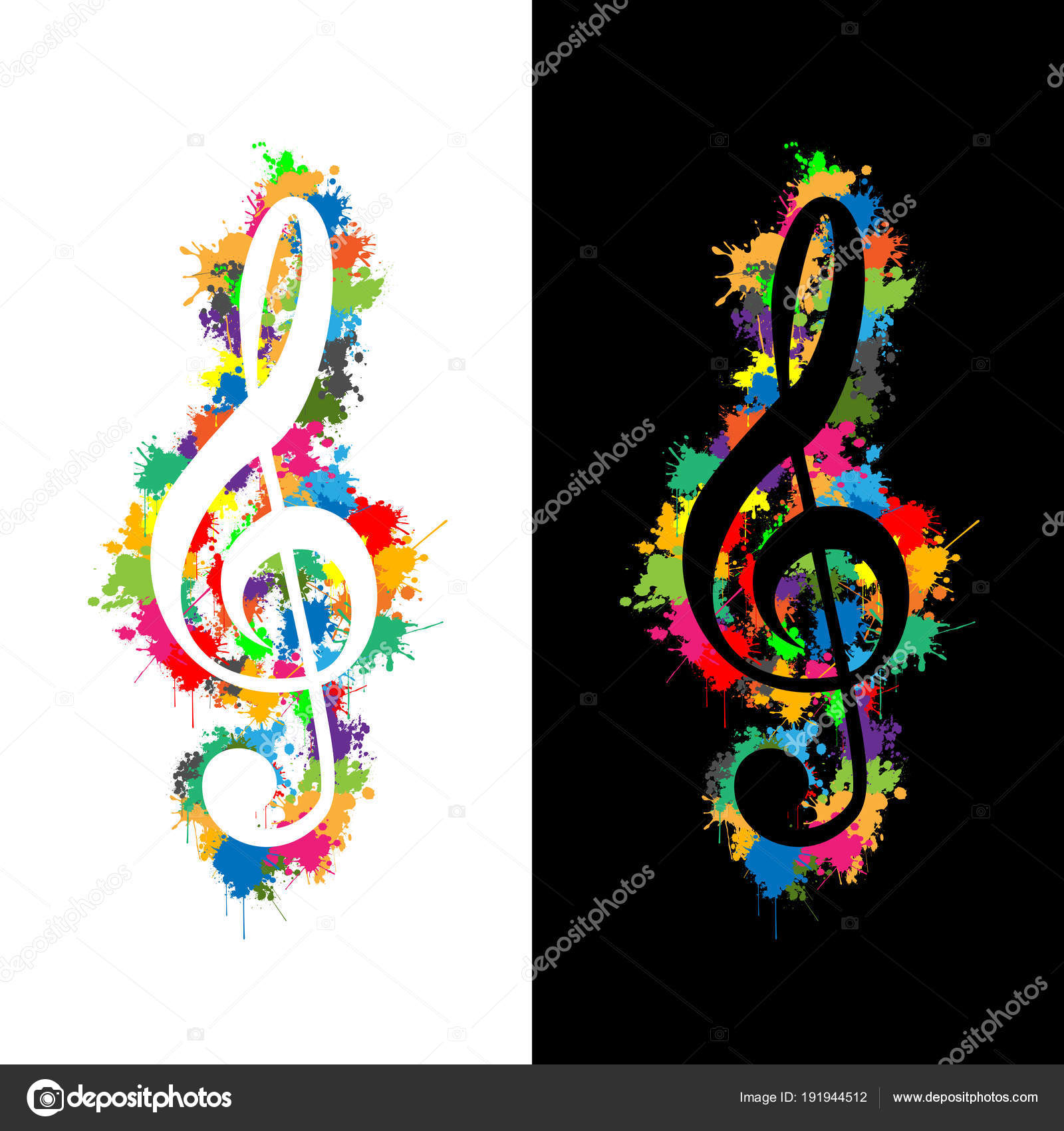 Chiave Violino Colorato Chiave Violino Illustrazione Come Simbolo