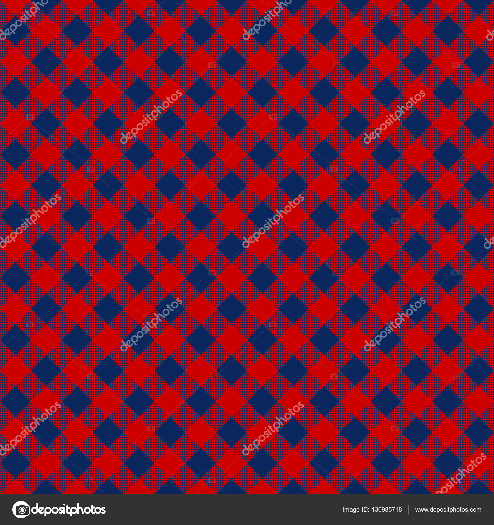 Blue red check diagonal fabric texture seamless pattern — Stock ...