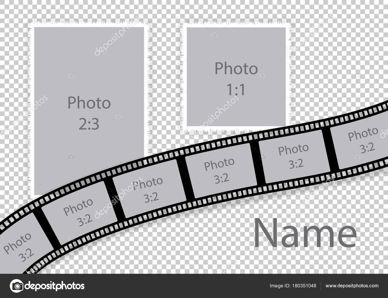 Hochzeit Collage Rahmen romantisches Foto Vorlage — Stockvektor ...