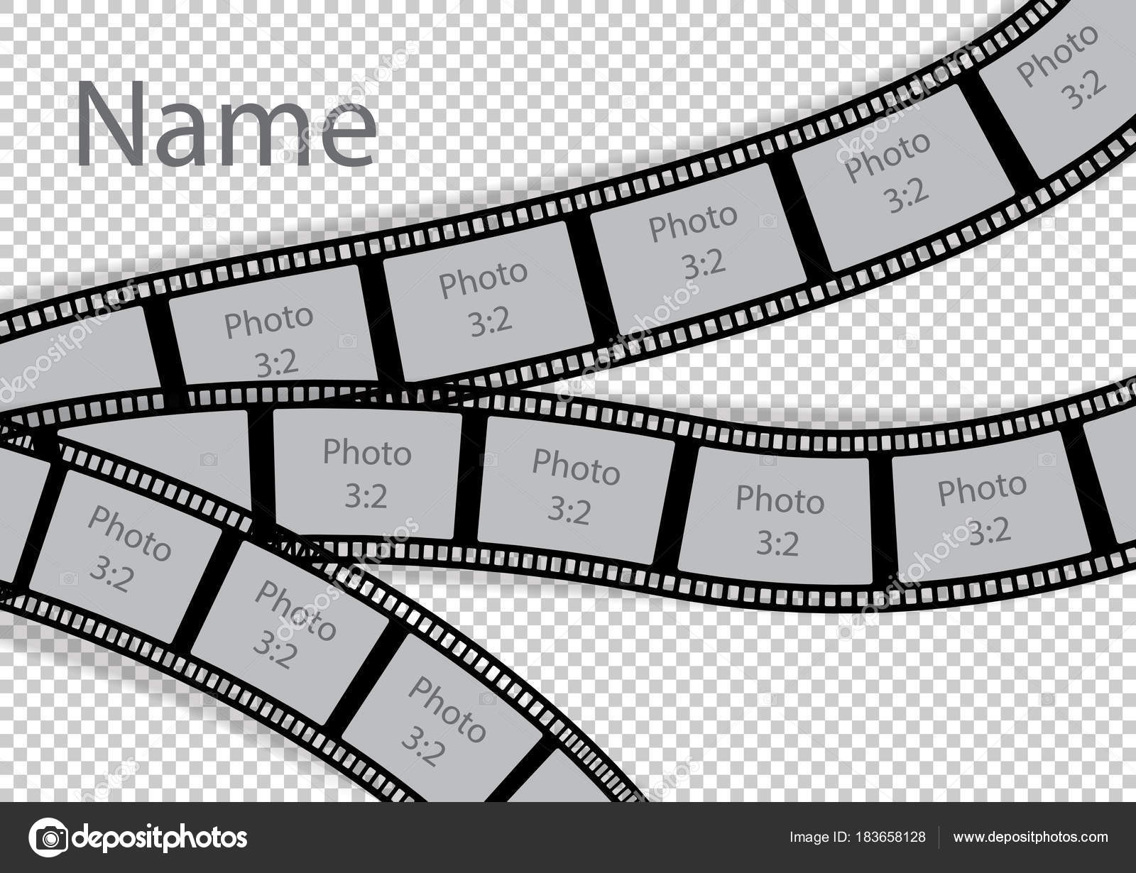 Film strip photo frame effect template collage — Stock Vector ...