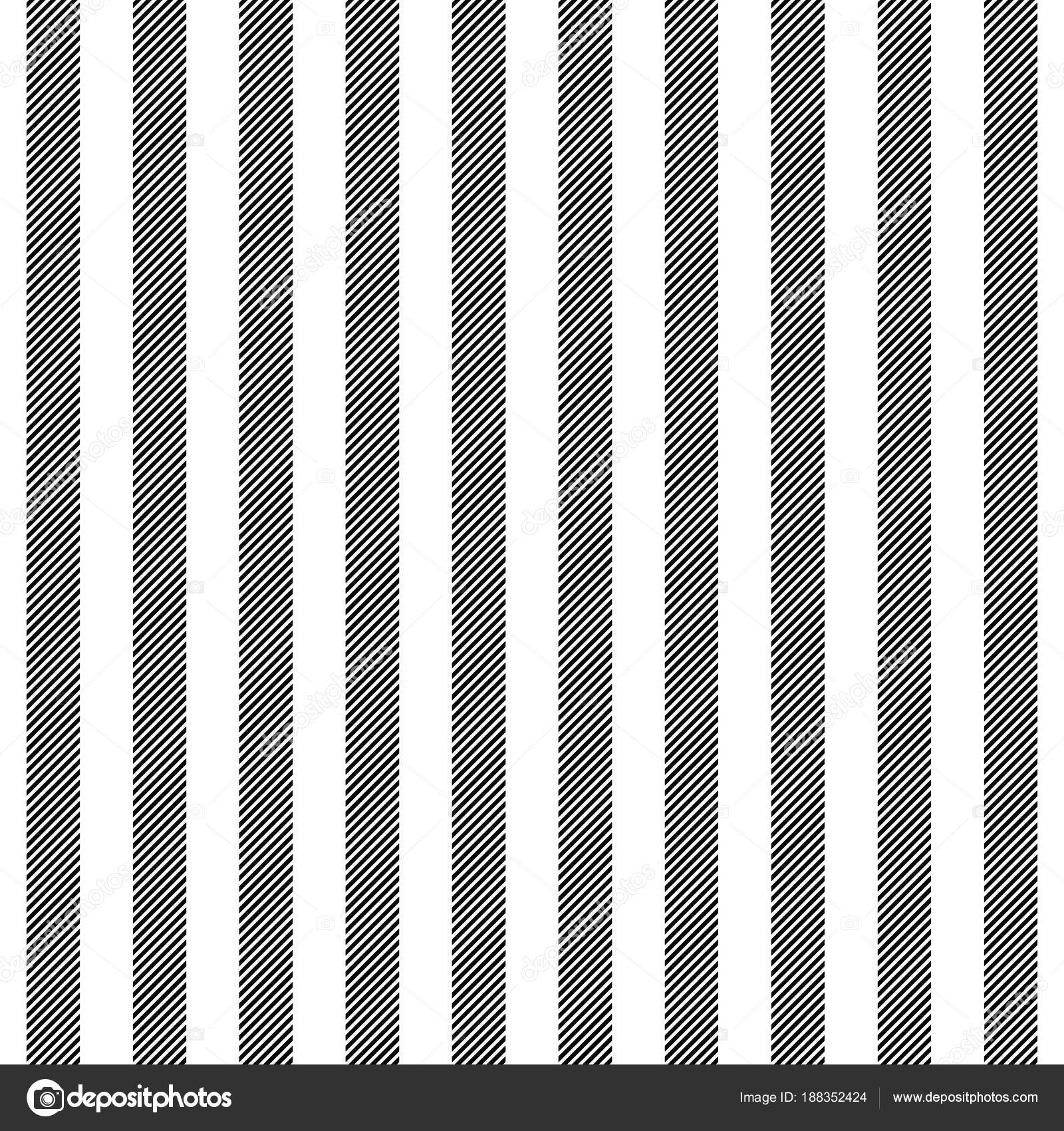 Black White Striped Fabric Texture Seamless Pattern Stock Vector