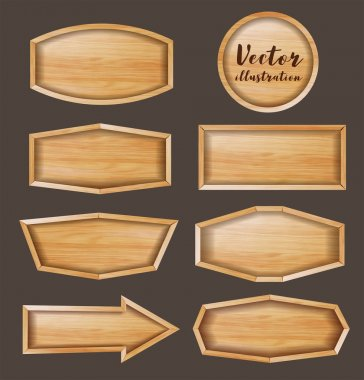 Vector wood sign background