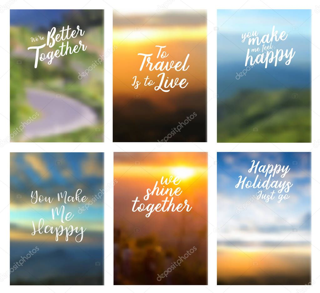 Positive quotes landscape background in A4 size