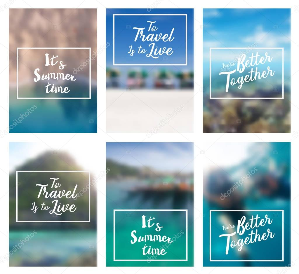 Lettering positive inspirational quote holiday summer beach