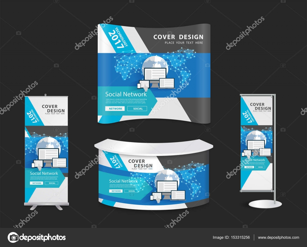 Exhibition Booth Vector Free Download : Trade show booth mock up exhibition stand with innovation