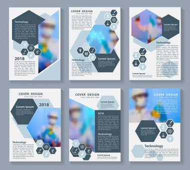 Flyer cover business brochure magazine vector design