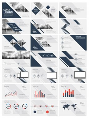 Blue elements for infographics on a white background