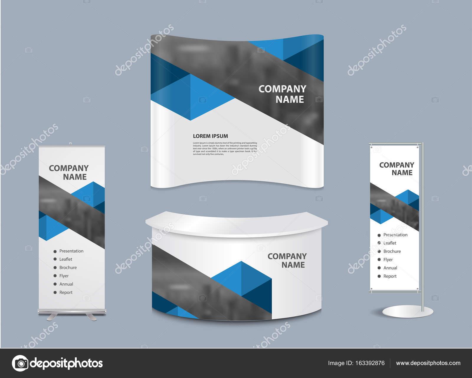 Exhibition Stand Design Illustrator : Advertising exhibition stand design — stock vector