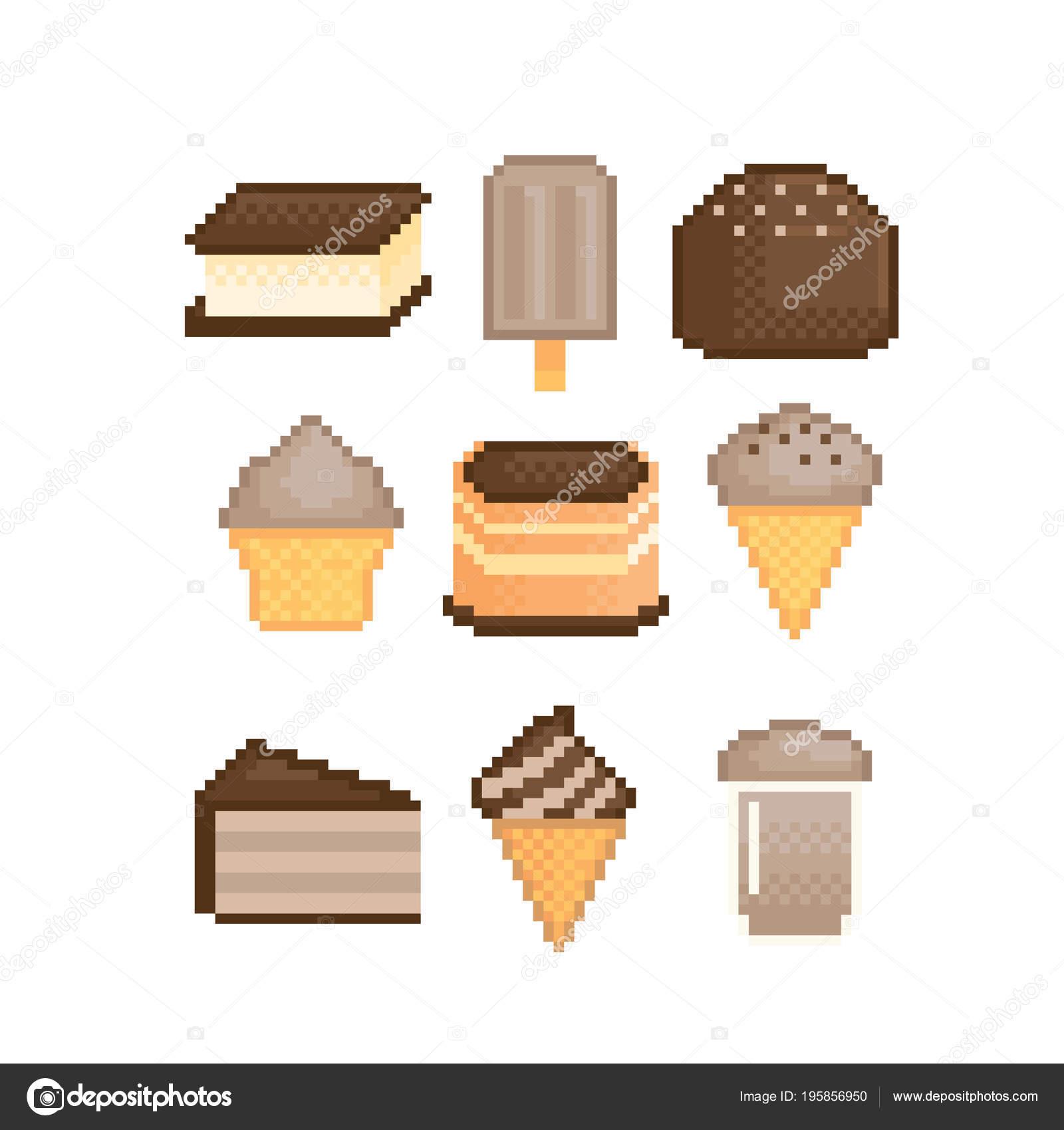 Sucreries Et Desserts Avec Saveur Chocolat Jeu Dicônes