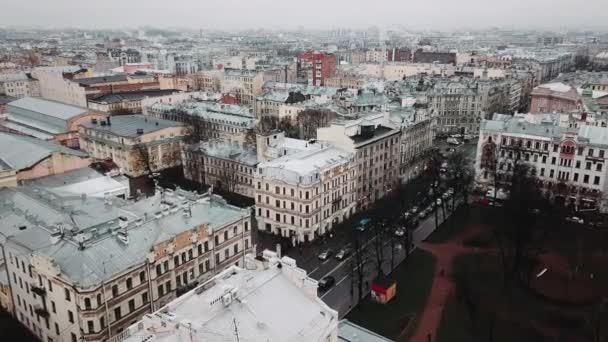 Centrum města Petrohradu letecký výhled. RUSKO Střešní pohled na bílou noc Nevského vyhlídky, Petrohrad, Rusko