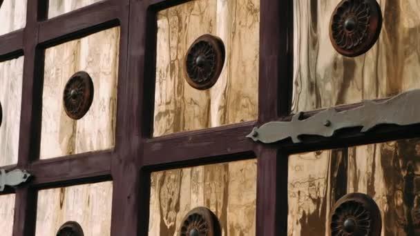 Old golden door with door accents