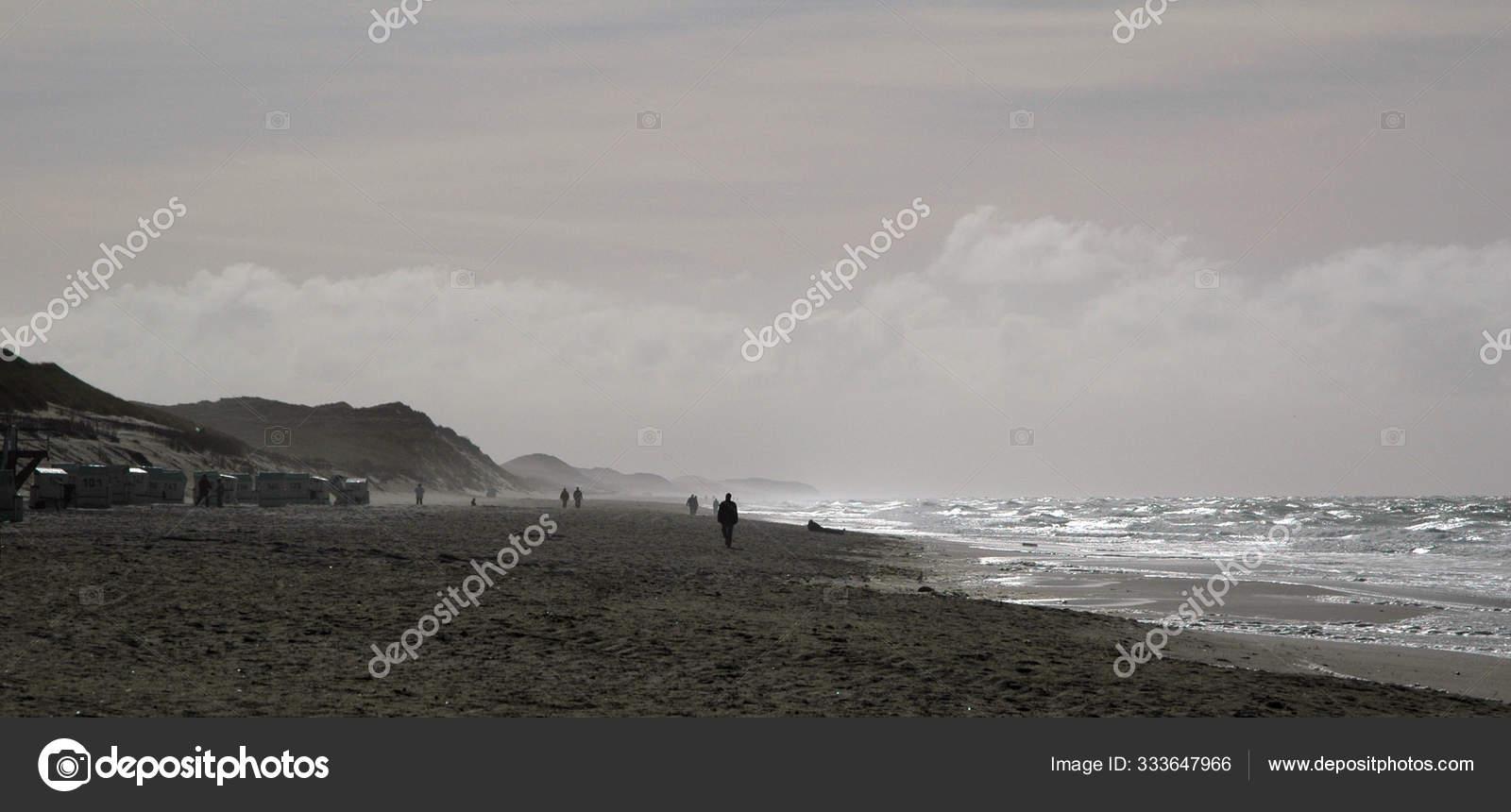 Seorang Pria Dalam Hitam Dan Putih Pantai Stok Foto C Panthermediaseller 333647966