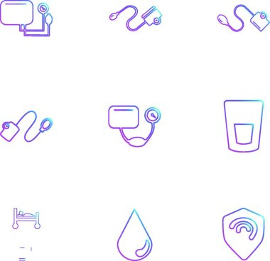 vector icons isolated on white background