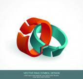 Absztrakt körök nyilak design. Vektor-szimbólum.