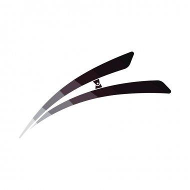 Hair clip icon. Flat color design. Vector illustration.