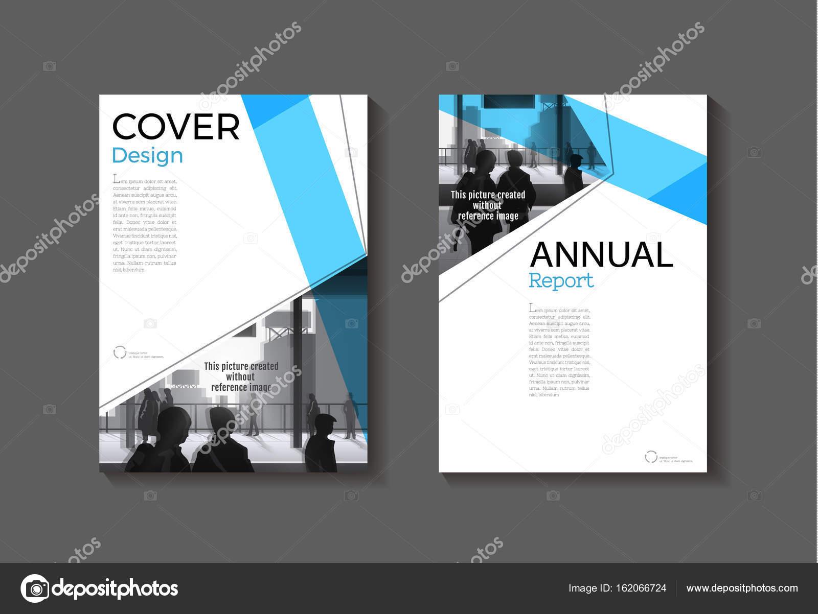 blaue Abdeckung abstrakte moderne Cover Buch Broschüre Vorlage ...