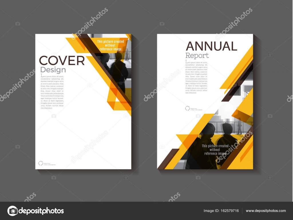 Braun gelb abstrakte Abdeckung moderne Cover Buch Broschüre Vorlage ...
