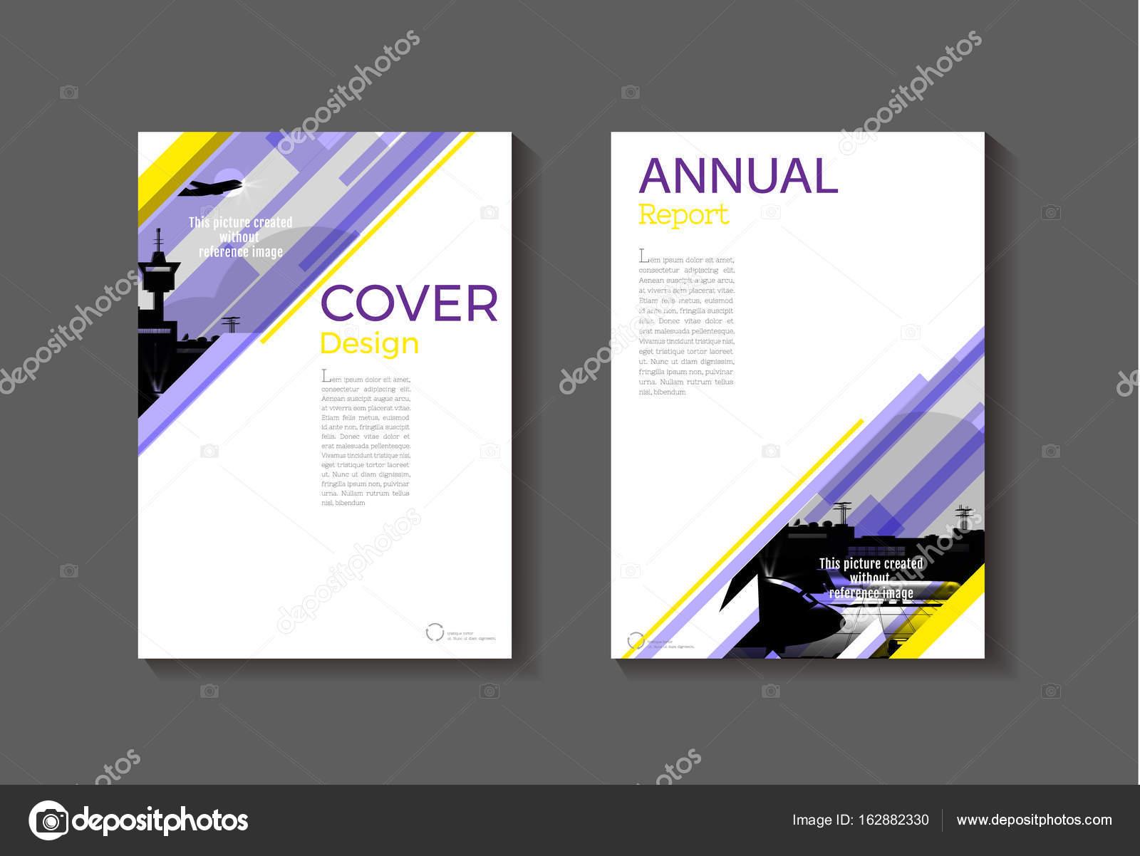 lila und gelb moderne Cover Buch Broschüre Vorlage, design ...