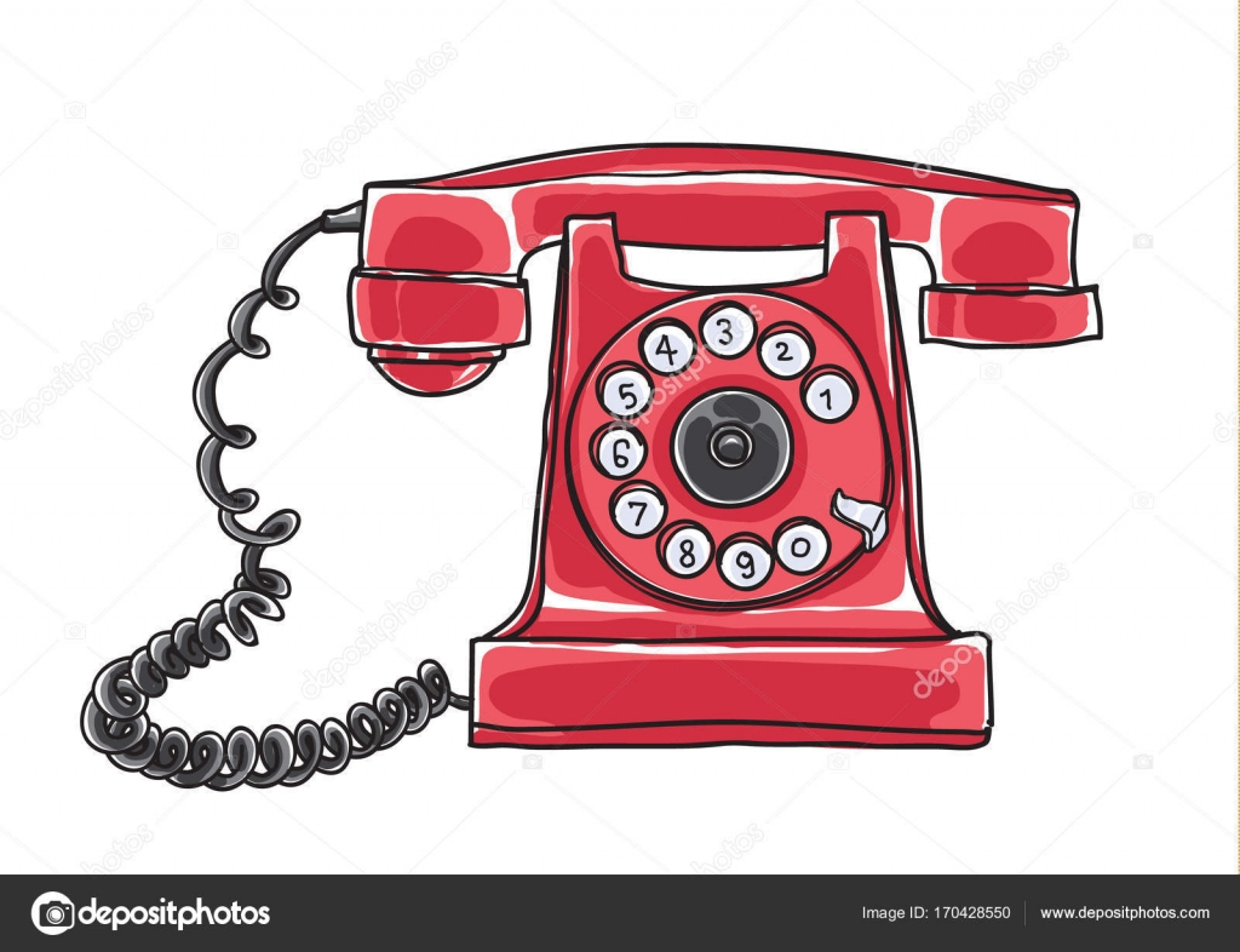 Imágenes Telefonos Antiguos Mano De Antiguos Rotary Teléfono Rojo