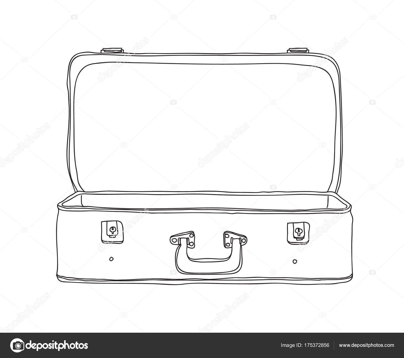 koffer vintage opslag bagage leeg en open getrokken
