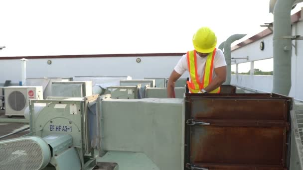 Technician working at site work, Labor day concept, Worker checking product