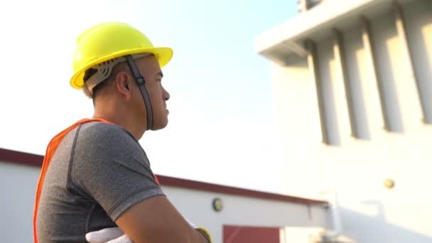 Ingenieur auf der Baustelle, Industriekonzept