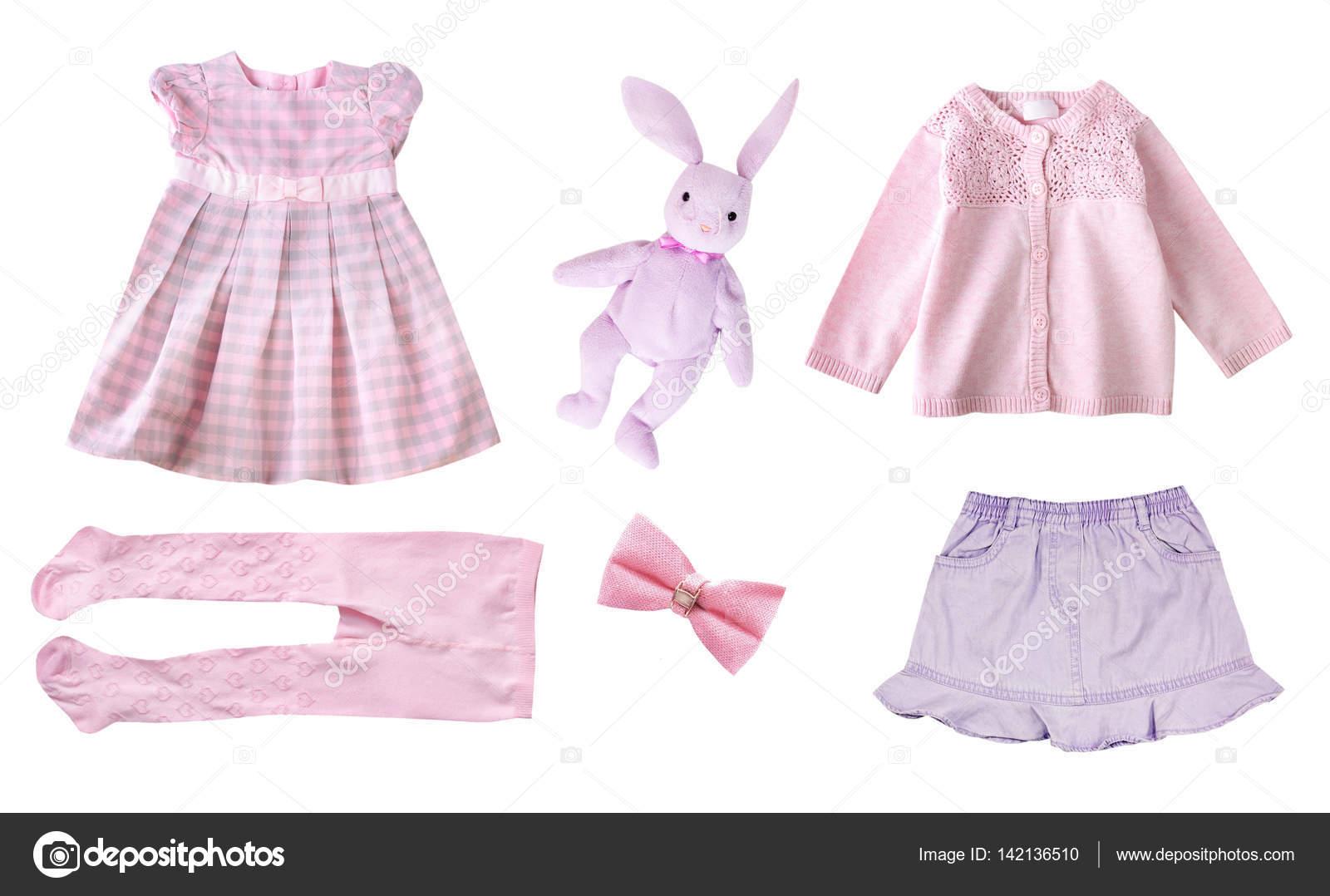 80fca33c5225 Imágenes: ropa de niña | Ropa niña niño aislado — Foto de stock ...