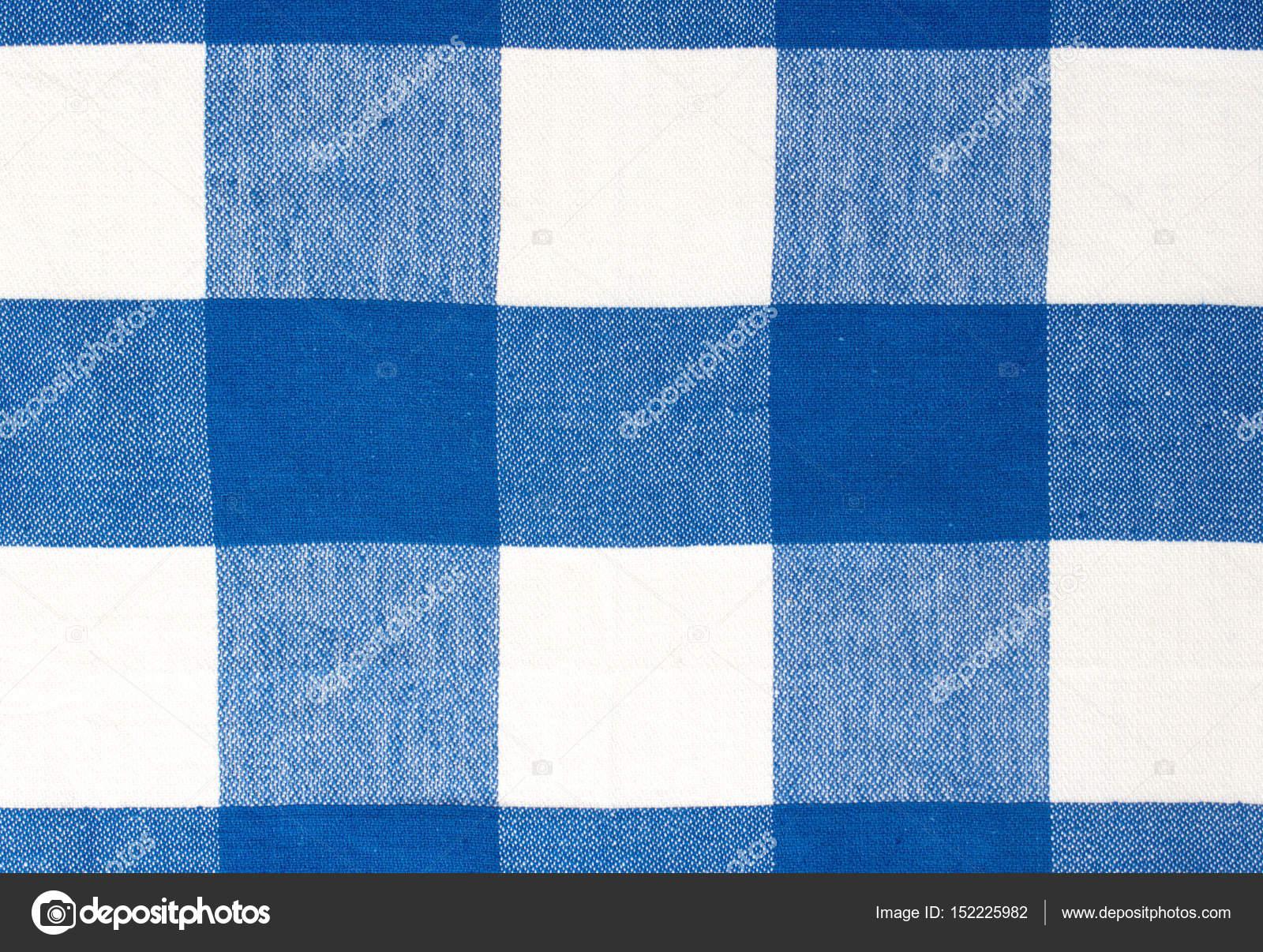 Blaue Picknick Tuch Textile Hintergrund — Stockfoto © NYS #152225982