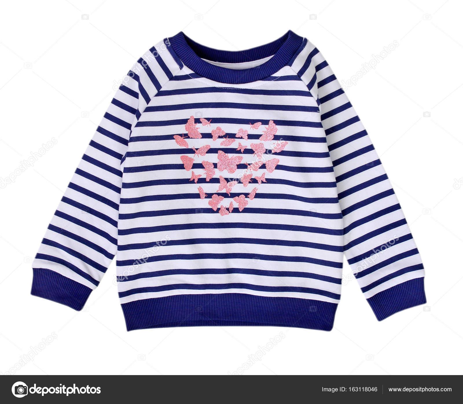 13cac7c75a2 Mikina Stried chytré dítě izolované na bílém. Dětské tričko s potiskem.  Moderní neformální batole oblečení — Fotografie od ...