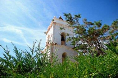 Bell Tower of Saint Lucas Church in Toconao Town, Archaeological Site  near San Pedro de Atacama, Northern Chile