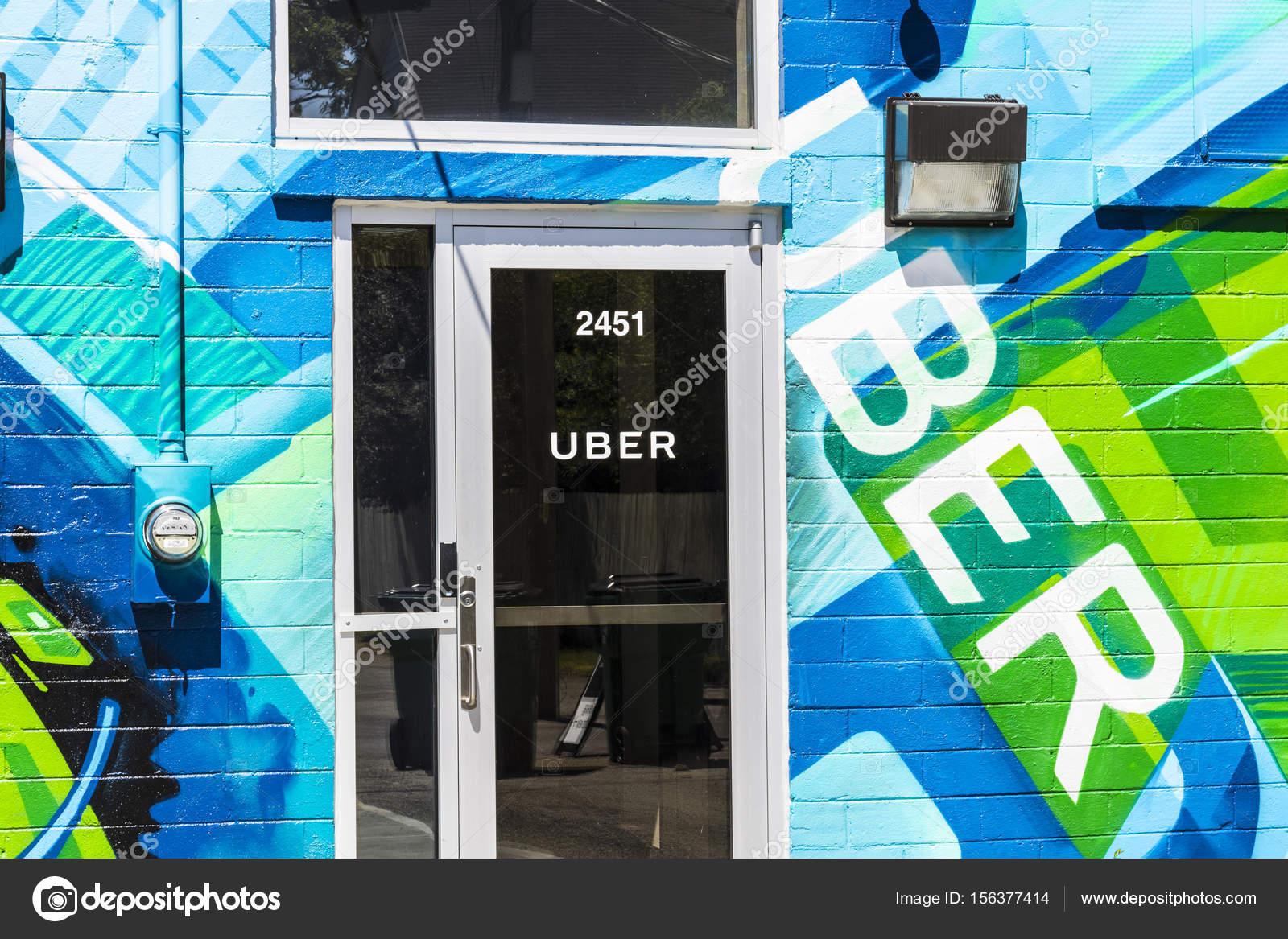 Indianapolis - Circa June 2017: Uber Greenlight Hub  Uber Drivers
