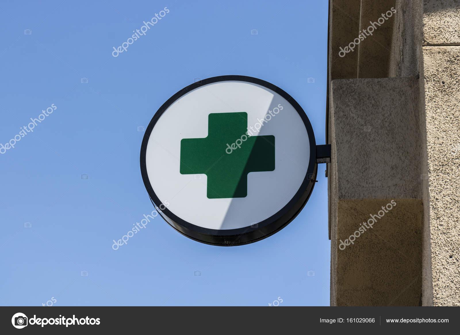 Las Vegas Circa July 2017 Green Cross Sign The Green Cross Is A