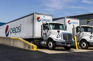 Logansport - Circa August 2017: Pepsi Bottling Signage. Pepsi is one of the largest beverage producers in the world V