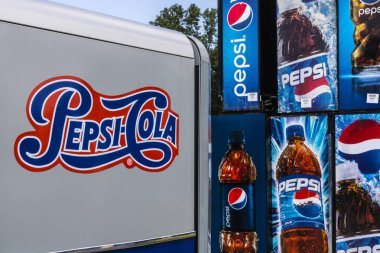 Ft. Wayne - Circa August 2017: Pepsi and PepsiCo Vending Machines Awaiting Repair. Pepsi is one of the largest beverage producers in the world V