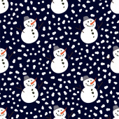 Snowman. Winter, holidays, Christmas, New Year