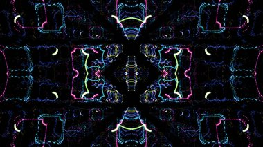 Psychedelic tribal kaleidoscope texture design, Abstract kaleidescopic club.