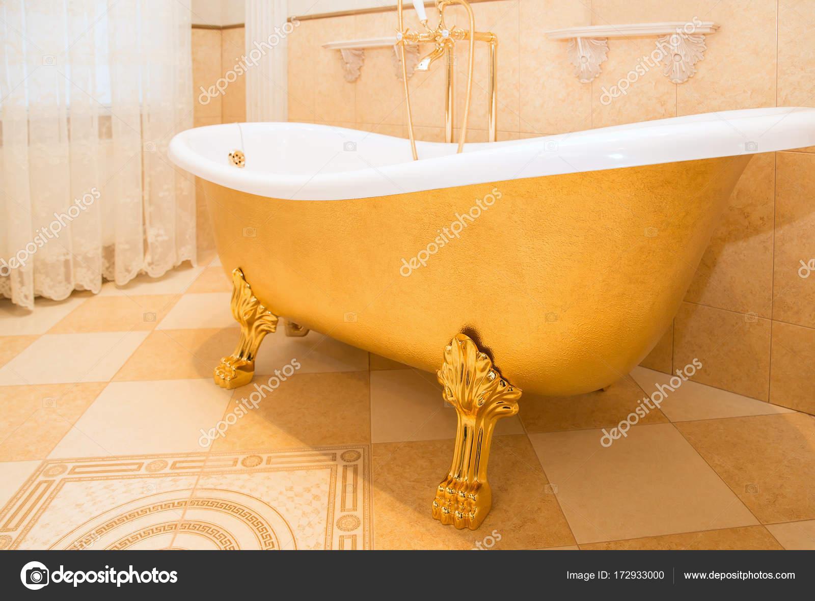 Old Fashioned Luxirious Golden Bath Tub Bathroom Stock Photo C Mariakray 172933000