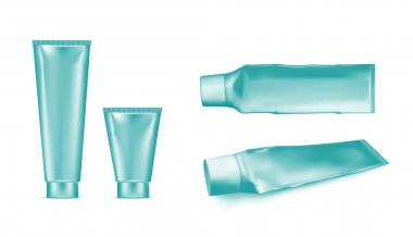 Plastic squeezed tube. Packaging for cosmetics and toothpaste