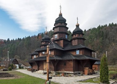 St Elias Wooden Church in Yaremche, Ukraine
